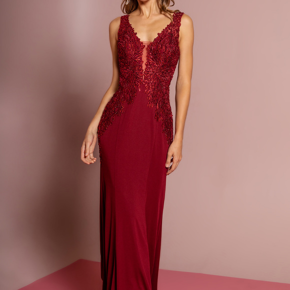 580147b460d Sheath Shape Gorgeous Long Evening Dress GL2614 NWT
